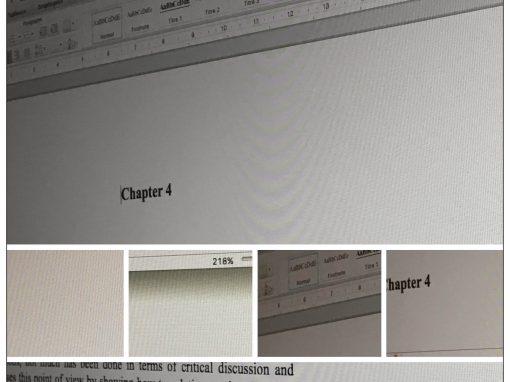 Thèse, article, dissertation